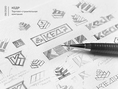 Sketch logo lettering kedr logo