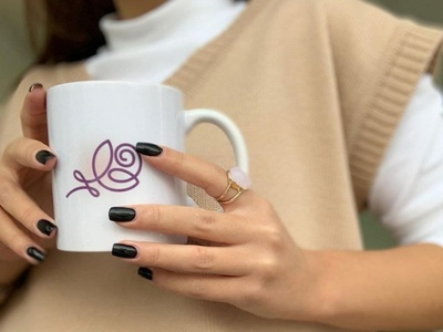 ЛОГО «Uliana Atwood» logoflow дизайн логотипа logoname logoline logotype branding logo