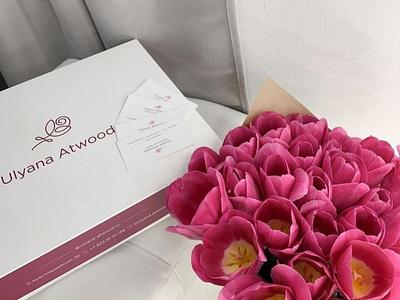 ЛОГО «Uliana Atwood» logo flower logo name logo line logodesign logotype branding logo