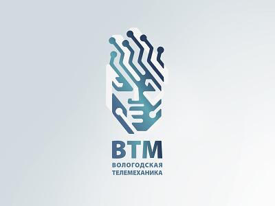VTM design man logo mechanics of robot face