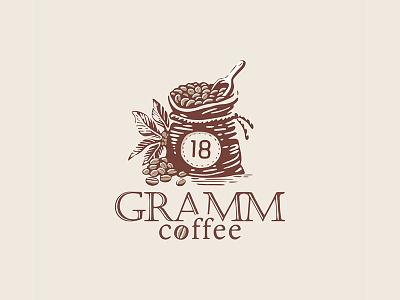 18 GRAMM coffee typography branding design logocoffee vector coffee logo