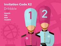 Dribbble Invitation Code X2