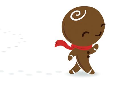 Jim G Bredman illustration gingerbread man holiday christmas