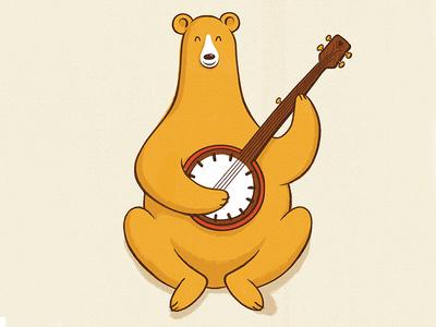 Banjo Bear illustration texture