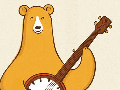 Banjo Bear Detail illustration texture