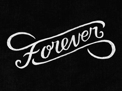 Forever  handlettering illustration typography
