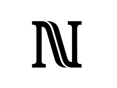 NaverNu Logo hand lettering letter design logo