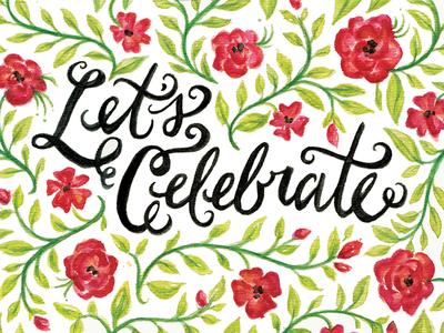 Sandys Invite design invite watercolor hand lettering