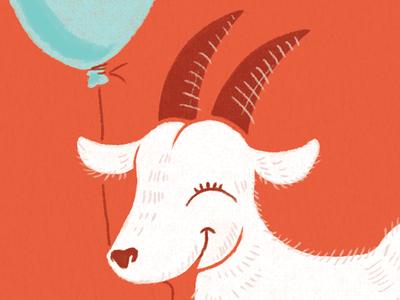 Goat Gal Detail wacomtablet birthday doodle texture illustration