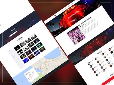 Burn Electronica Fest 2016 Website responsive event website electronica festival burn