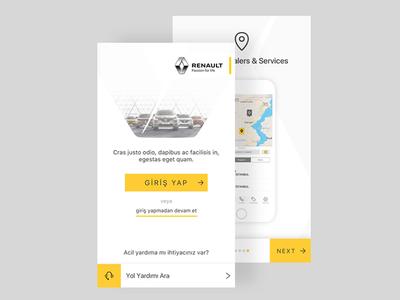 Renault Port App Landing Screen