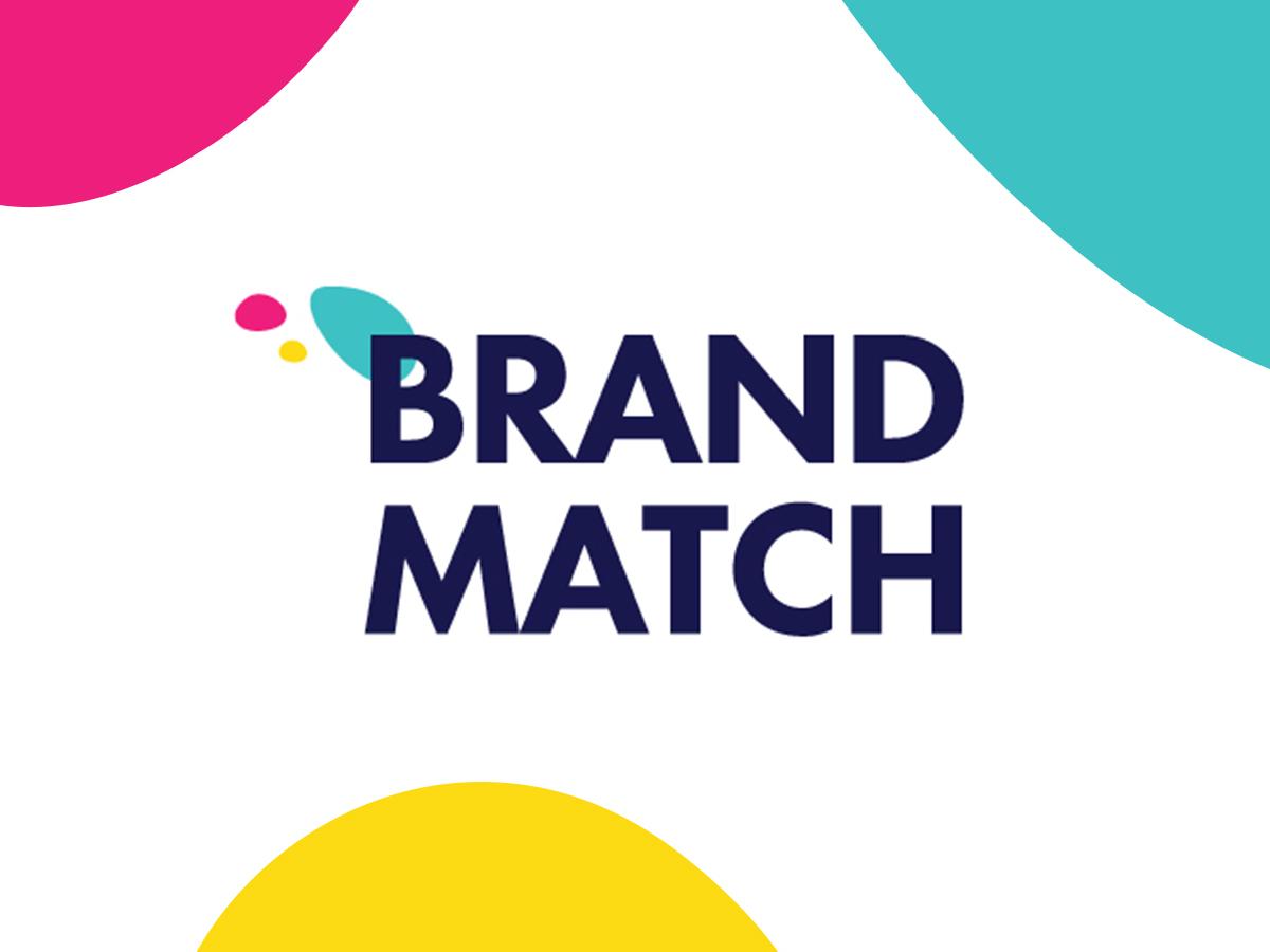 Brandmatch brand design identity design dark blue blue yellow pink colourful shapes flowing bubble identity logo brand design agency creative branding