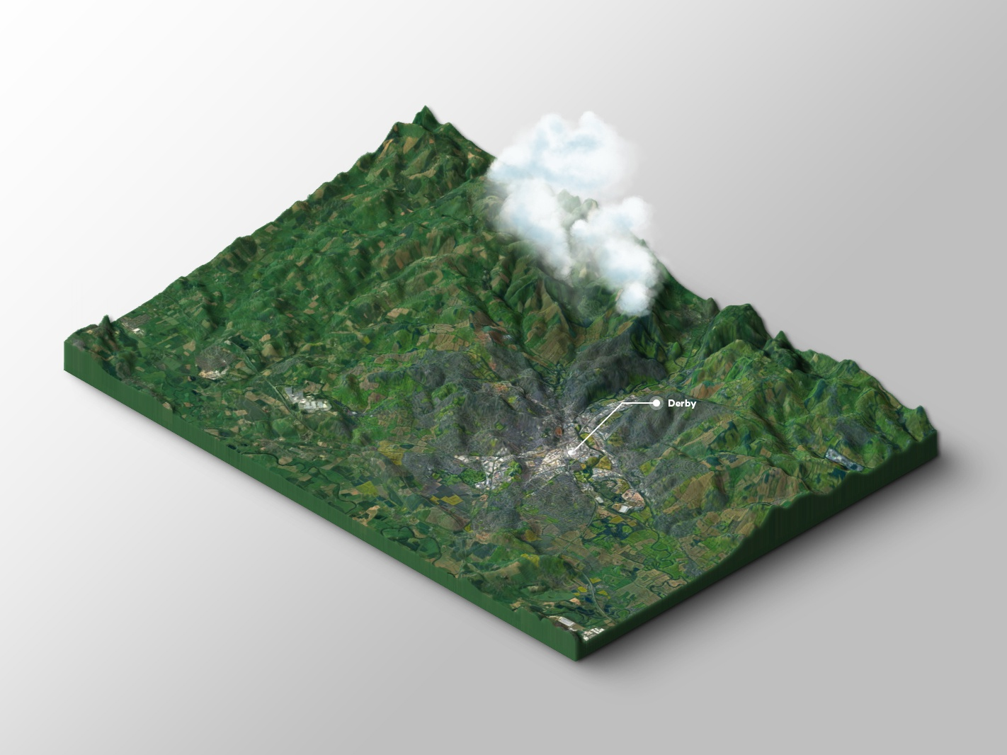 Derby 3D map clouds derby 3d mapping 3d map map