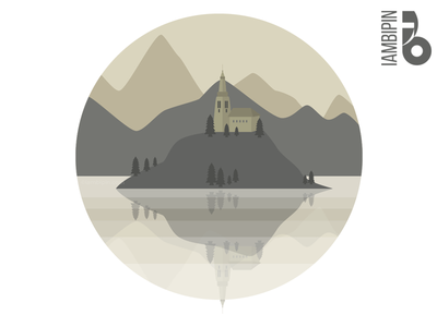 Glory of Mountains | Flat Design