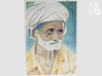 Old Man | Watercolor Painting