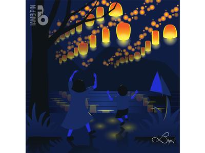 Paper Lanterns | Vector Art | Flat Design graphic design illustration digital art flat  design vector art