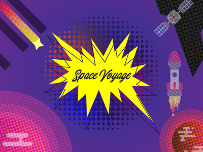 Space Voyage | Flat Design | Motion Graphics