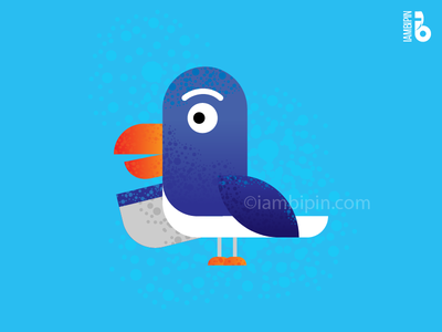 The Bird | Vector Art | Flat Design complimentary colors blue bird illustration vectorart vector flatdesign bird