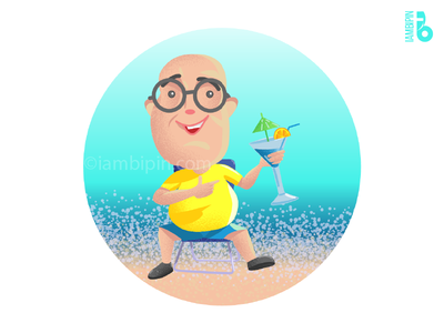 On Vacation | Vector Art | Flat Design illustrator vacation illustration iambipin characterdesign vectorart vector