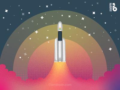 Chandrayaan 2 | Vector Art iambipin digitalart vector lunar rover lander moon satellite chandrayaan2 chandrayaan