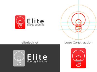 Elite Energy Solutions Logo iambipin lettering energy usa icon branding logodesign logos logo