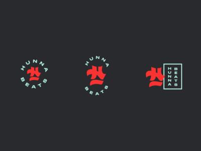 Hunna Beats logo variations