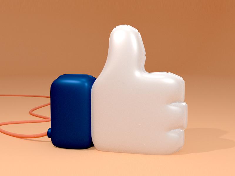 Thumbs Up Dudeee studio b3d blender illustration balloon yes icon like
