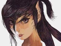 Dark elf girl #1 ) Maybe half?