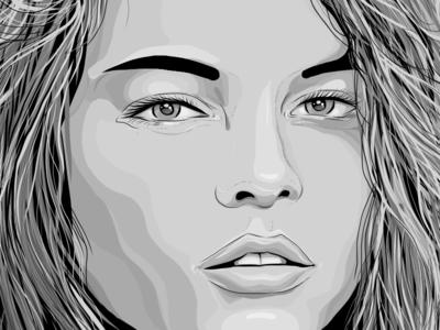 Grayscale girl (2k15). Marta