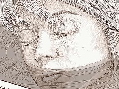 Sleeping Beauty (2K17) communication night socialnetworks iphone ios style drown deep pencilsketch girl