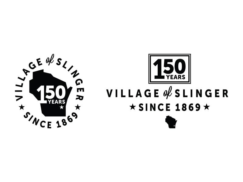 Slinger WI 150 Years logo wisconsin slinger 150 badge