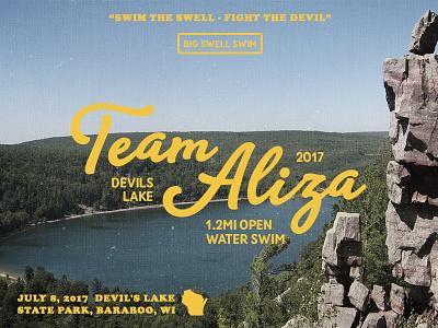 Devils Lake Open Water Swim big swell state park devils lake open water vintage typography swimming baraboo wisconsin lake swim