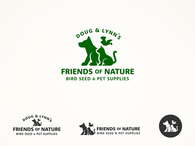 Friendsofnature pet supplies animals cats dogs birds logo