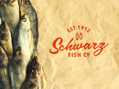 Schwarz lettering logo fish