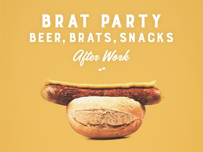 Brat Party snacks beer brats party