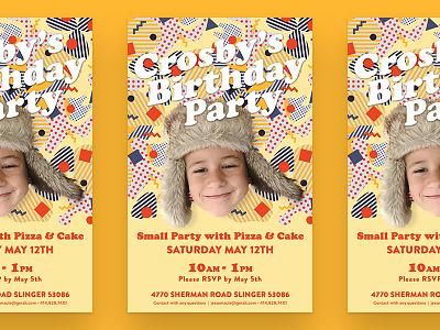 Birthday Partayyy kids invite party birthday