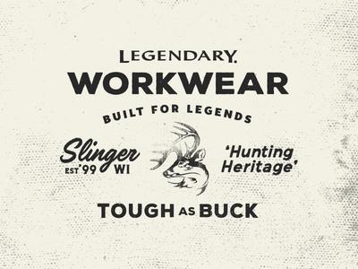 Workwear Patch hunting tough workwear
