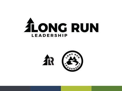 Long Run Concept logo leadership run long brand