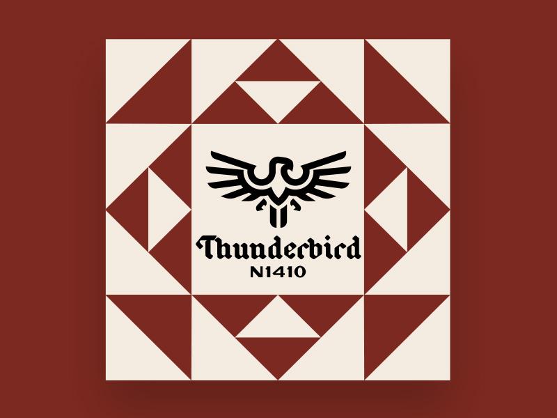 Barn Quilt01 thunderbird geometric barn quilt