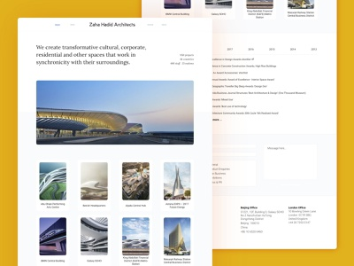 Zaha Hadid Redesign Concept landing page website redesign web design ui clean