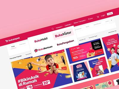 Bukalapak Navigation Concept desktop website navigation ecommerce