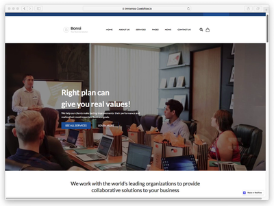 Design to Webflow | Bonsi - Business & Consulting PSD Template ui template desktop minimalist web design website webflow