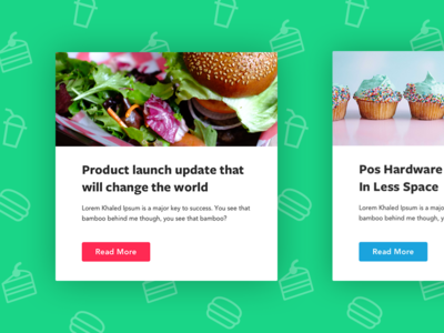 Food Delivery Newsletter Modules