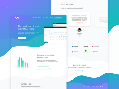 Marketing Page - Forecasting Tool website marketing ui ux web color clean green blue purple gradient curve