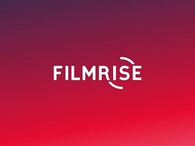 FilmRise Rebrand roku channel roku brand identity logomark tv film red brand wordmark gradient logo branding