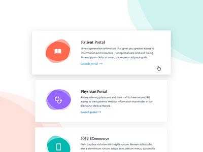User Portals blob purple orange green clean color web ux ui marketing website