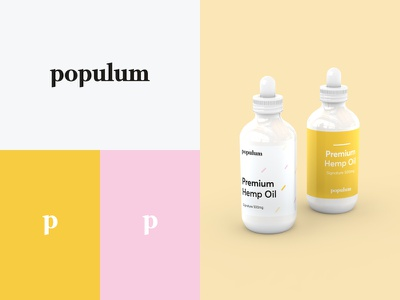 Discarded Brand Direction white dropper bottle hemp pink yellow brand