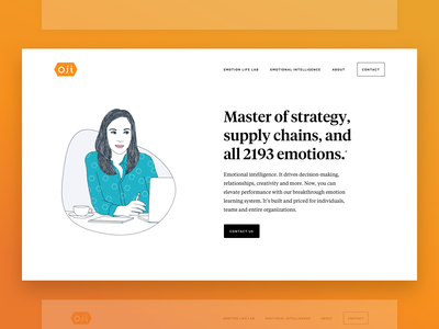 Oji Life Lab - Marketing Site art design orange clean illustration minimal web ui