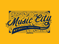 Nashville Tennessee Screenprint Design