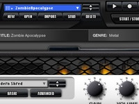 Fender® FUSE™ software interface